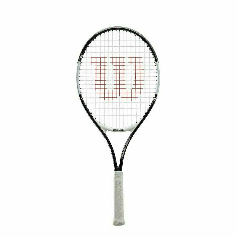 Ракетка теннисная Wilson Roger Federer 21 Gr00000,арт.WR028510U, для 5-6лет,алюм.,со струн, бело-черный