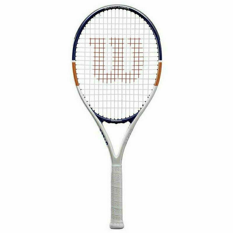 Ракетка теннисная Wilson Roland Garros Elite 21, арт. WR029610H, для 5-6 лет,алюминий,со струн, бел-син-ор