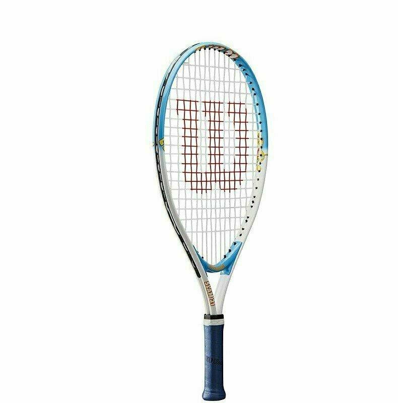 Ракетка теннисная Wilson SLAM 21, арт. WRT20380U, для 6-5 лет,алюминий,со струнами, желто-оранжевая