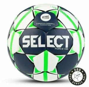 Мяч гандбольный  SELECT FORCE DB арт. 844920-002, Lille (р.1), EHF Appr,ПУ,ручная сшивка ,бело-салат-черн