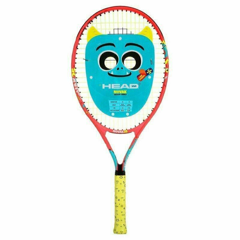 Ракетка теннисная детская HEAD Novak 25 Gr07, арт.233500, для 8-10 лет, алюм., со струнами, красн-сине-желтый
