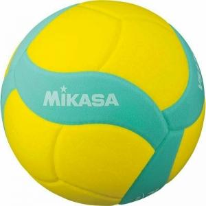 Мяч волейбольный  MIKASA VS170W-Y-G , р.5, вес 160-180 г, FIVB Insp,синт.пена ТПЕ, клеен,18 пан,бутиловая камера ,жел