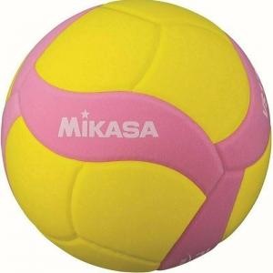 Мяч волейбольный  MIKASA VS170W-Y-P , р.5, вес 160-180 г, FIVB Insp,синт.пена ТПЕ, клеен,18 пан,бутиловая камера ,жел