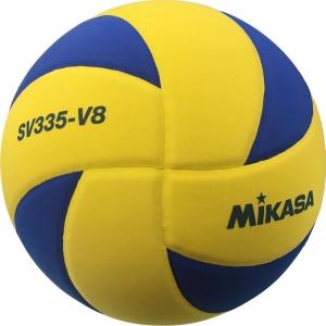 Мяч для волейбола на снегу  MIKASA SV335-V8 , р.5, FIVB Appr, синт.пена ТПЕ, клееный, бутиловая камера , жел-син