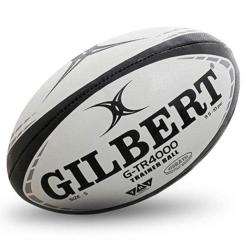 Мяч для регби GILBERT G-TR4000 арт.42097805, р.5, резина, ручная сшивка, бело-красно-черный