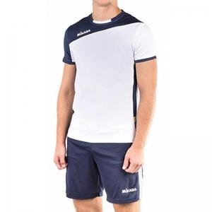 Форма волейбольная мужская MIKASA , арт. MT350-023-L, р.L, 90% полиэстер, 10% эластан, темносине-белый