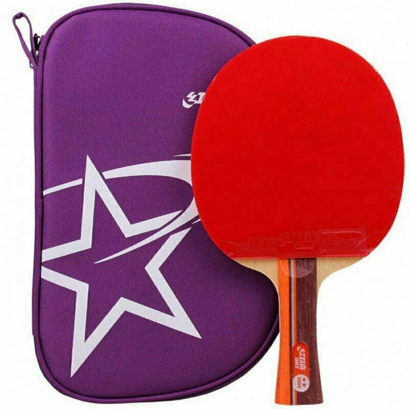 Ракетка для настольного тенниса DHS T2002, 2** звезды, для тренировок, накладка 2,2 мм, кон. ручка