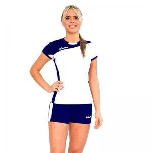 Форма волейбольная женская  MIKASA , арт. MT375-023-M, р. M, 90% полиэстер 10% эластан, бело-темносиний