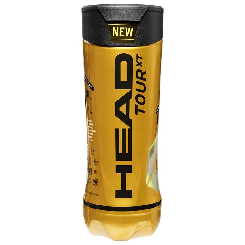 Мяч теннисный HEAD TOUR XT 3B,арт.570823, уп.3 шт,одобр.ITF,сукно,нат.резина,желтый