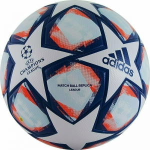 Мяч футбольный  ADIDAS Finale 20 Lge арт. FS0256, р.5, ТПУ, 32 пан., термосшивка, бело-синий