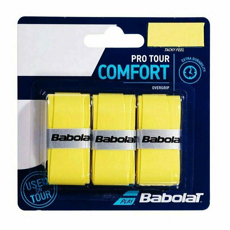 Овергрип BABOLAT Pro Tour X3, арт.653037-113, упак. по 3 шт, 0.6 мм, 115 см, желтый 653037-136