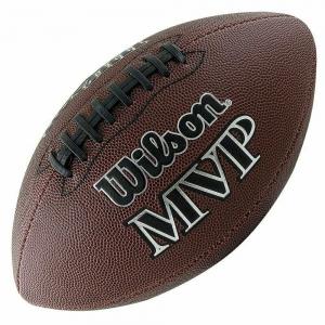 Мяч для американского футбола  WILSON NFL MVP Official арт.WTF1411XB, резина, бутиловая камера , коричневый