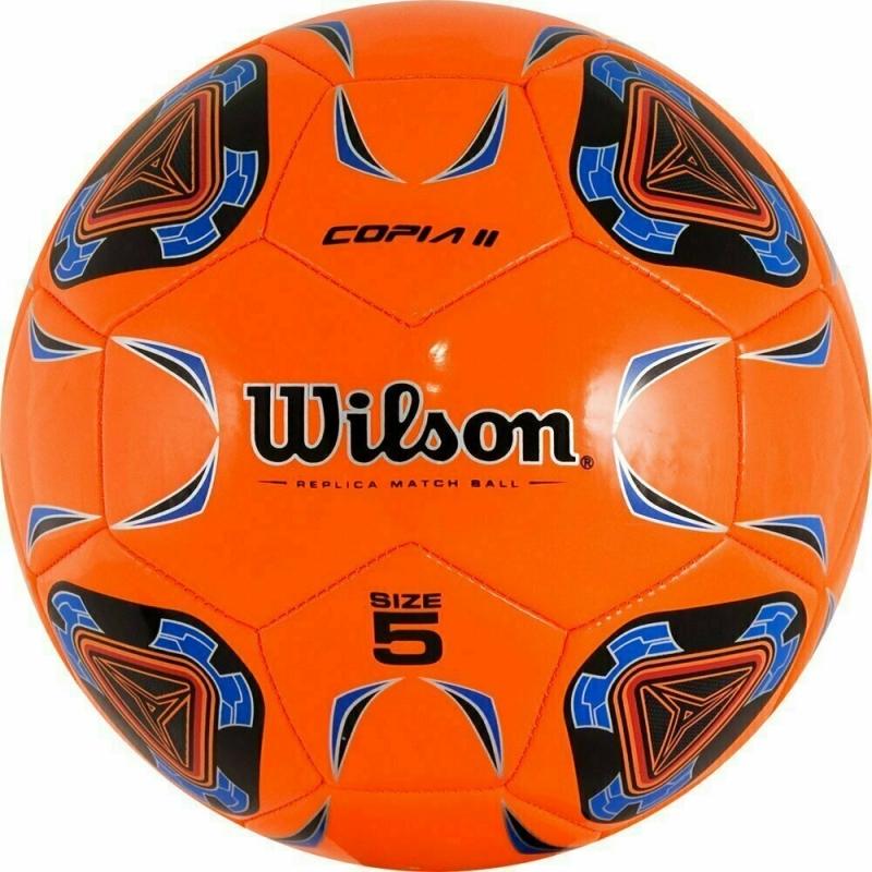 Мяч футбольный  Wilson Copia II арт.WTE9282XB05 р.5, 30п, гл.TPU, 1подкл. сл.,машинная сшивка ,оранж-сине-черный