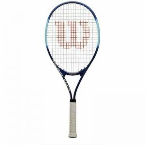 Ракетка теннисная Wilson Tour Slam Lite Gr2, арт.WRT30210U2,для любит, алюминий, со струнами, сине-голубая