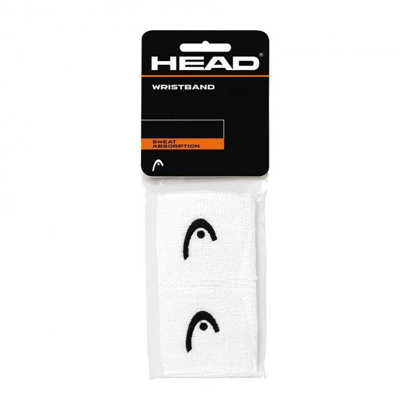 Напульсники HEAD 2,5 (БЕЛЫЕ), арт. 285050-WH, уп. 2шт, ширина 7 см, 90% нейлон, 10% эластан, белый