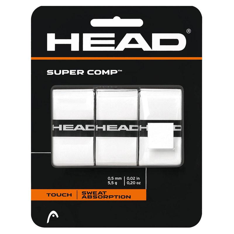 Овергрип Head Super Comp (БЕЛЫЙ), арт.285088-WH, 0.5 мм, 3 шт, белый