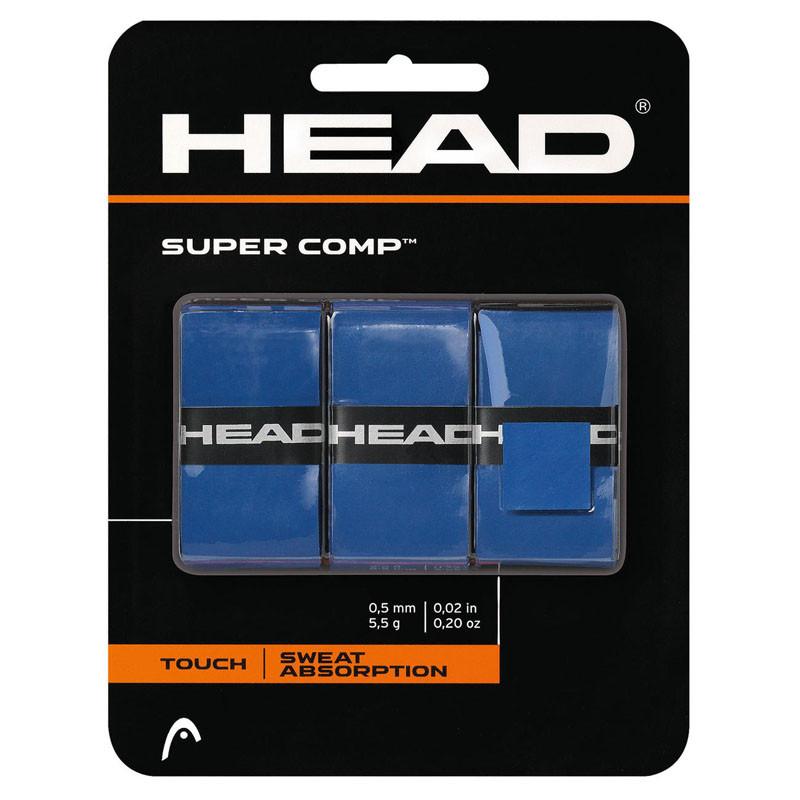 Овергрип Head Super Comp (СИНИЙ), арт.285088-BL, 0.5 мм, 3 шт, синий