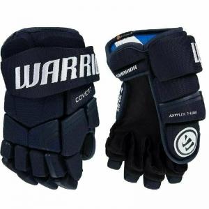 Перчатки хоккейные  WARRIOR QRE4 арт.Q4G-NV-08, р.08, нейлон, ЭВА,темносиний