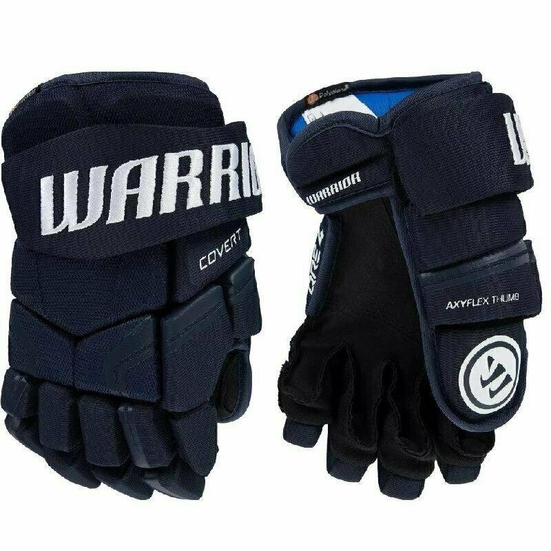 Перчатки хоккейные  WARRIOR QRE4 арт.Q4G-NV-14, р.14, нейлон, ЭВА,темносиний
