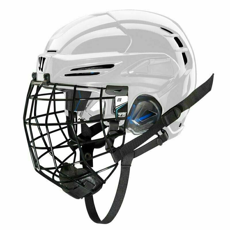 Шлем хоккейный WARRIOR COVERT PX2 COMBO SLVCage, арт. PX2HCS6-WH - L, р.L, c маской, белый PX2HCS6-WH-L