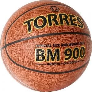 Мяч баскетбольный  TORRES BM900 арт.B32035, р.5, ПУ-композит, нейлон корд, бутиловая камера , темнооранж-черн