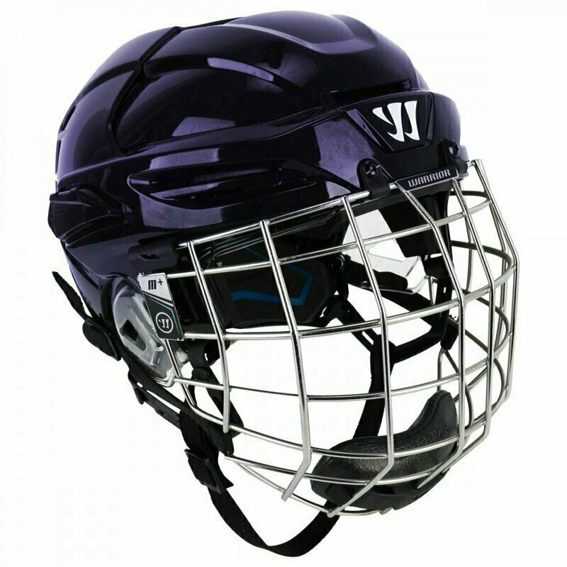 Шлем хоккейный WARRIOR COVERT PX2 COMBO SLVCage, арт. PX2HCS6-NV-L, р.L, c маской, темносиний