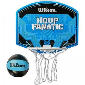 Набор для мини-баскетбола Wilson Hoop Fanatic Mini hoop kit, арт. WTBA00436, щит с кольцом, мяч р.1