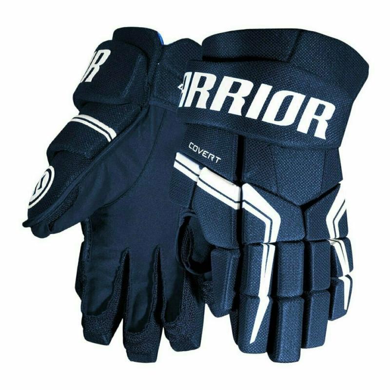 Перчатки хоккейные  WARRIOR QRE5 арт.Q5GSR8-NV14, р.14, нейлон, ЭВА, темносине-белый