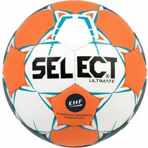 Мяч гандбольный  SELECT Ultimate EHF арт. 843208-062,Junior (р.2), EHF Appr,ПУ,руч.сш, оранжев-бело-синий