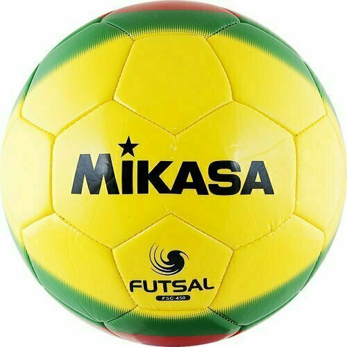 СЦ*Мяч футзальный MIKASA FSC-450 ,р.4,гл.ТПУ,30 п,бут.к,маш.сш,жел-зел-крас