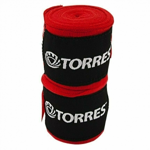 Бинт боксерский эластичный TORRES арт.PRL62018R, дл. 2,5 м, шир. 5 см, 1 пара, красный