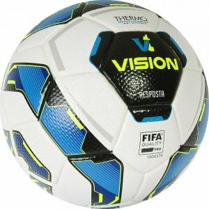 Мяч футбольный  Vision Resposta арт.01-01-13886-5,р.5,FIFA Quality Pro,ПУ, термосш.,белый-мультиколор TORRES