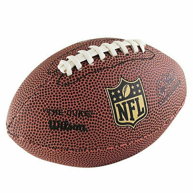 Мяч для американского футбола сувенирный Wilson NFL Mini, арт.F1637, р.0, ПВХ, кор-бел-черный