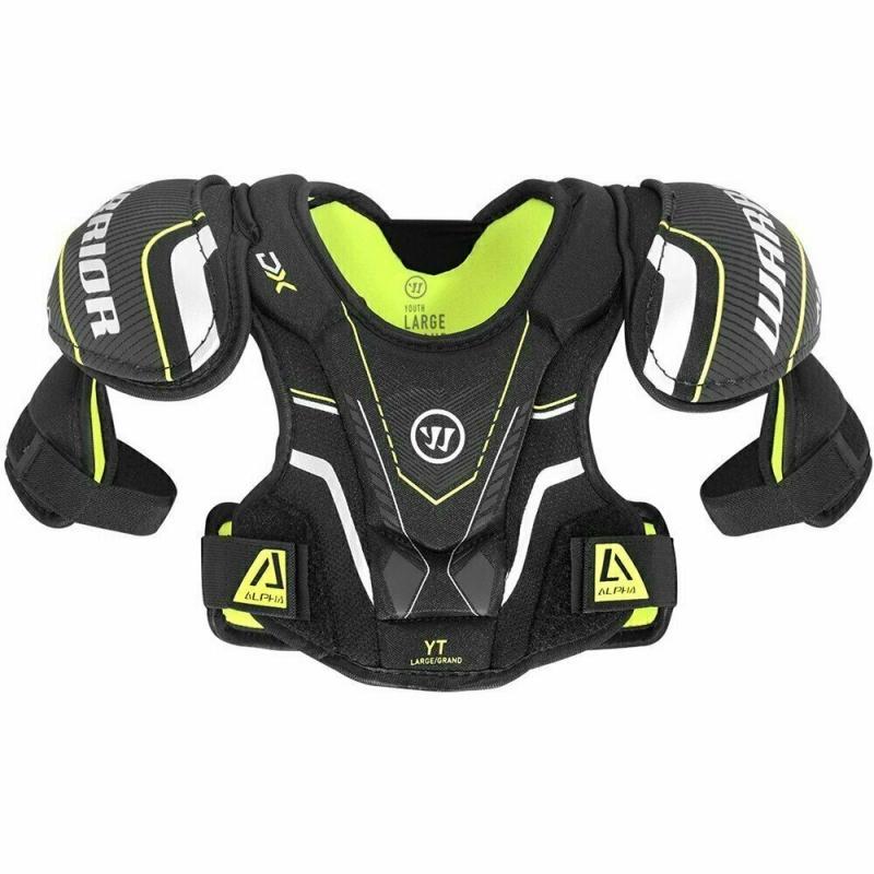 Защита груди/плеч дет. WARRIOR DX YTH Shoulder Pad арт.DXSPYTH-S/M,р.S/M,пласт., пена,полиэс.,чер DXSPYTH9-S/M