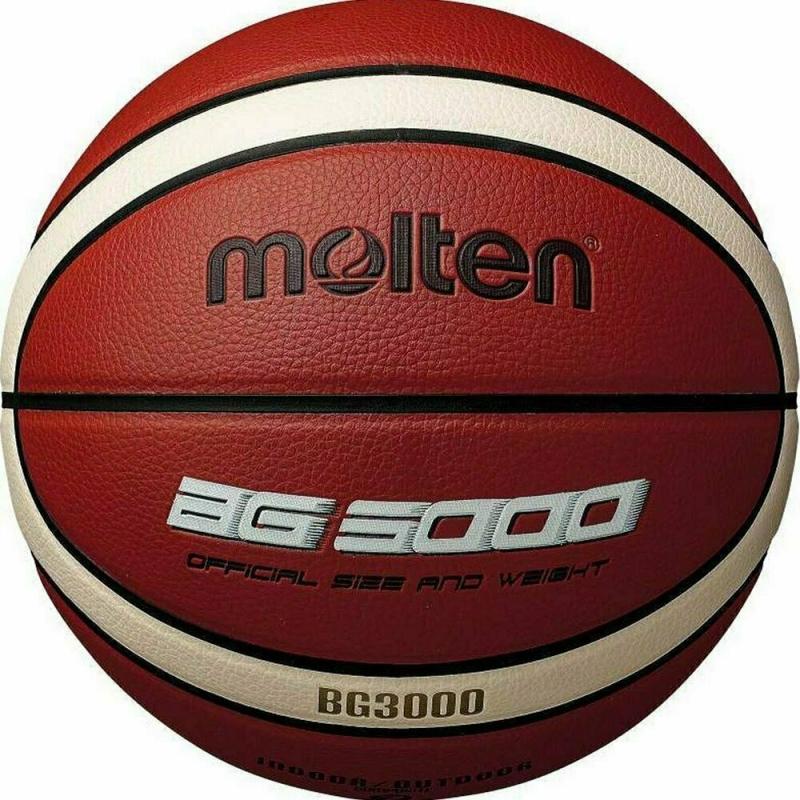 Мяч баскетбольный  MOLTEN B6G3000 р. 6, 12 панелей, синтетическая кожа (ПВХ),бутиловая камера ,нейл.корд,кор-беж-чер