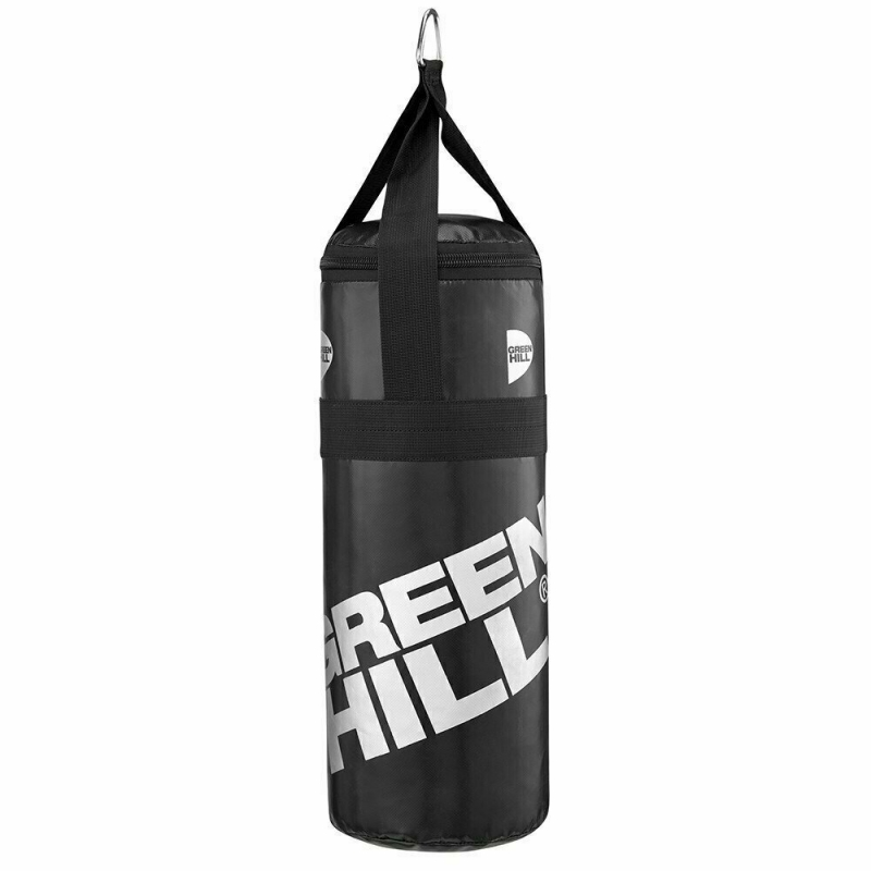 Мешок боксерский GREEN HILL VINILE арт. PBV-9140ws, 48*20, 5кг, на стропах, черный