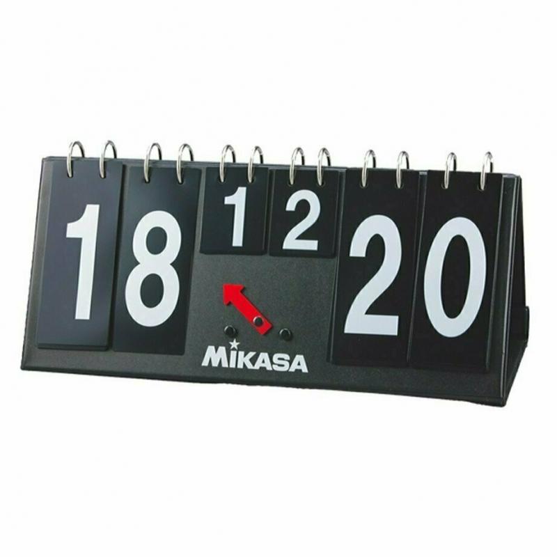 Счетчик для волейбола  MIKASA AC-HC100 , картон в ПВХ, на лип., 37 см дл на 16,5 см,выс, черн