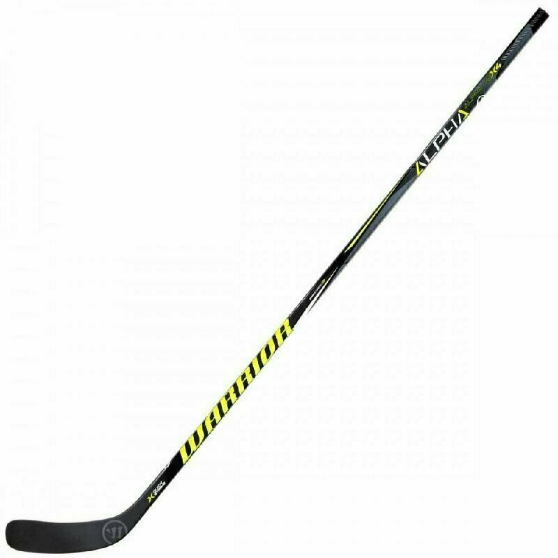 Клюшка хоккейная подростковая WARRIOR ALPHA QX4 50 Backstrm4, арт. QX450G7-RGT,жест.50, прав,чер-жел-бел