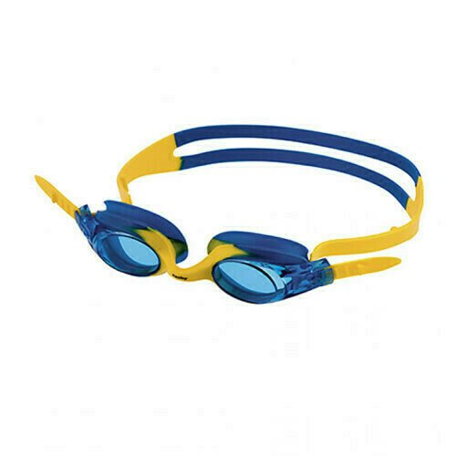 Очки для плавания  FASHY Spark 1 , арт.4147-07, СИНИЕ линзы, нерег.перенос., сине-желт. опр