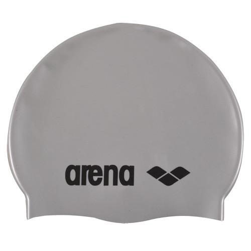 Шапочка для плавания детская  ARENA Classic Silicone Jr , арт.9167051, СЕРЕБРИСТЫЙ, силикон