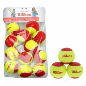 Мяч тен.WILSON Starter Red, арт. WRT137100, одобр.ITF, фетр, нат.рез, уп.12шт,желто-красн