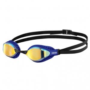 Очки для плавания  ARENA Airspeed Mirror , арт.003151203, ЗЕРКАЛЬНЫЕ линзы, смен.перенос., синяя оправа