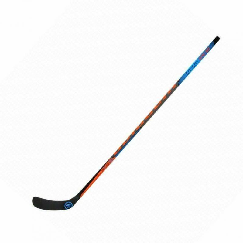 Клюшка хоккейная подростковая WARRIOR COVERT QRE50 55 Grip Lie5, арт.QRE5055G-LFT, жестк55, лев, черн-син-крас QRE5055G0-LFT