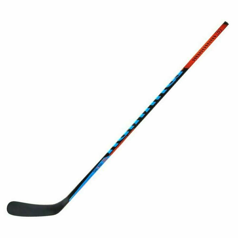 Клюшка хоккейная WARRIOR COVERT QRE60 75 Grip Lie5, арт.QRE6075G0-LFT, жест 75, лев, черн-син-крас