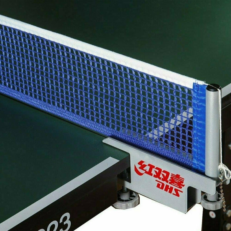 Сетка для настольного тенниса DHS P118 ITTF,в компл.с мет.стойками,ITTF Ap,измерит.высоты, черн