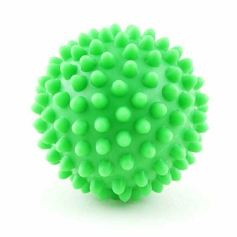 Мяч массажный, арт. 300107, ЗЕЛЕНЫЙ, диам. 7 см, поливинилхлорид PALMON