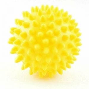 Мяч массажный, арт. 300108, ЖЕЛТЫЙ, диам. 8 см, поливинилхлорид PALMON