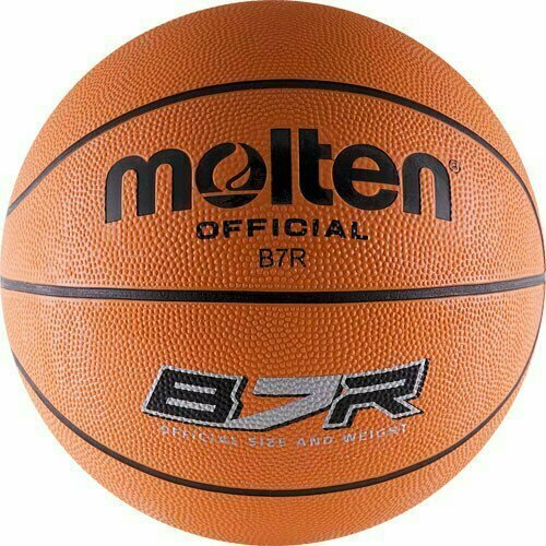 Мяч баскетбольный  MOLTEN B7R р.7, 8 панелей, резина, бутиловая камера , нейл.корд, оранж-чер