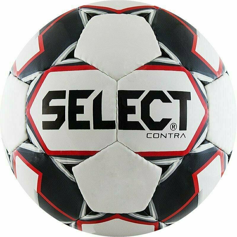 Мяч футбольный  SELECT Contra арт. 812310-103, р.4, 32 панели, гл.ПУ, руч.сш, бело-черн-красн