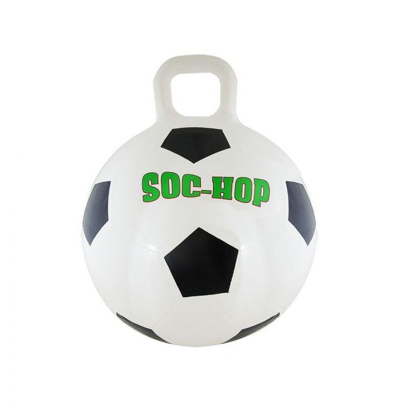 Мяч-попрыгун Футбол , арт.K17052, с ручкой, диам.50 см, ПВХ, бело-черный INNOVATIVE